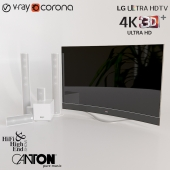 "lg TV 77"" & Canton Audio System"