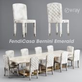 FendiCasa Bernini Emerald - Alba Chair