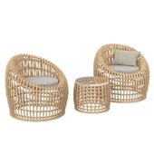 Кресло и стол из ротанга