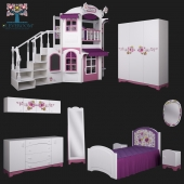 Collection «La Fleur» Children's furniture from CLEVEROOM