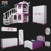 Collection «La Fleur» Children's furniture from CLEVEROOM