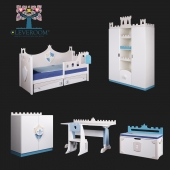 """A collection of children's furniture, """"Knights"""" from CLEVEROOM"""