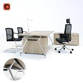 Desk Summa M (Koenig + Neurath, Germany), chair Okay II (Koenig + Neurath, Germany), table lamp JACKIE-PANZERI