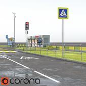 Набор элементов дорожного благоуствойства