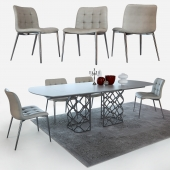 Table and chairs Bontempi Casa