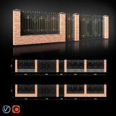 Забор с воротами и калиткой