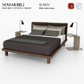 Novamobili Nido + Crystal table + Rubn Miller set