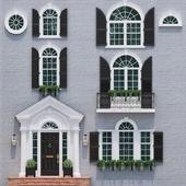 Окна и двери в стиле английской классики 1