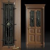 Входная дверь с кованой решеткой
