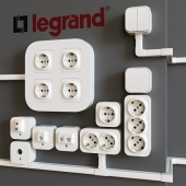 Накладные розетки Legrand Quteo (кабель-каналы Metra)