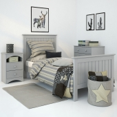 Кровать Barney Grey