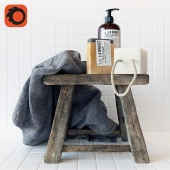 Rustic Bathroom Set