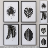 Letters Plants Framed Set-01