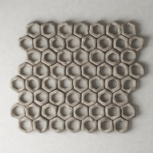 Stone  panel  hexagons