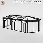 Зимний сад (№ 7) CMC 50 MODUS. С несимметричной трехскатной крышей
