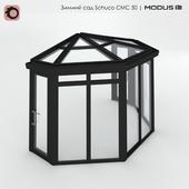 Зимний сад (№ 11) CMC 50 MODUS. сегментный, с пятискатной крышей