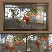 Витраж Карта Мира (World Map stained-glass window)