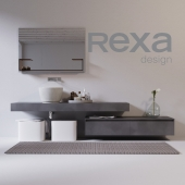 rexa design washbasin with furniture and accessories