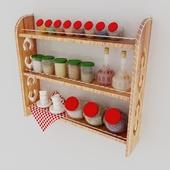 Shelf with banks
