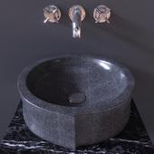 Sink Bathroom Sheerdecor Vela Marengo
