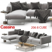 Cassina 206 8 CUBE sofa corner set