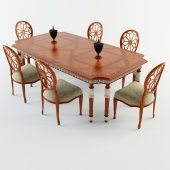 Francesco molon dining table and chair