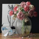 Декоративный набор с цветами
