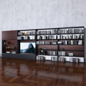 Storage system with books tv vase 7