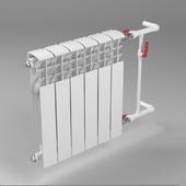 Bimetallic heating radiator