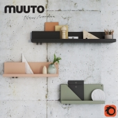 Mutto FOLDED SHELVES with decor