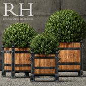 Restoration Hardware versailles wood panel planters