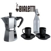 Bialetti Moka Pot & Mugs