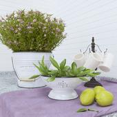 Decorative provance set for kitchen