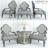 LEXINGTON ALHANBRA CHAIR 1519-11 and LEWISTON SQUARE LAMP TABLE