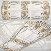 Ceiling stained-glass window Art Nouveau