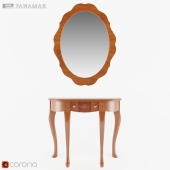 Panamar Console 155.090.P and mirror 303.000.P