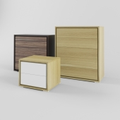 Chest of drawers and drawers without handles