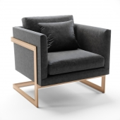 Thayer Coggin Lounge Chair by Milo Baughman