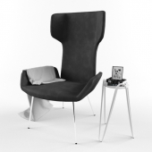 Armchair and table Midj