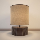 Chocolate brown table lamp