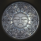 Витраж круглый The SUN