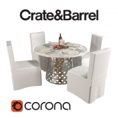 Crate and Barrel Como and Slip
