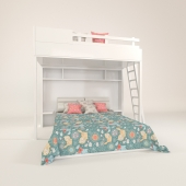 Bunk bed for a children's room