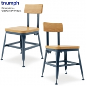 Triumph-Vintage Lyon Powder coated Dining Chair