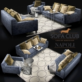 Диван Napoli Sofa Club blue