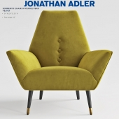 Jonathan Adler SORRENTO CHAIR IN VENICE PEAR VELVET