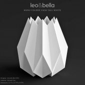 Leo & Bella MENU FOLDED VASE TALL WHITE