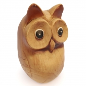 Owl in white wood
