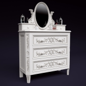 "Chest of drawers and table mirror ""Cameo"""