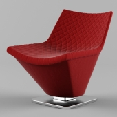 Roche Bobois red chair